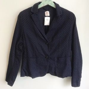 NEW Gap Modern Eyelet Navy Blazer Jacket Career